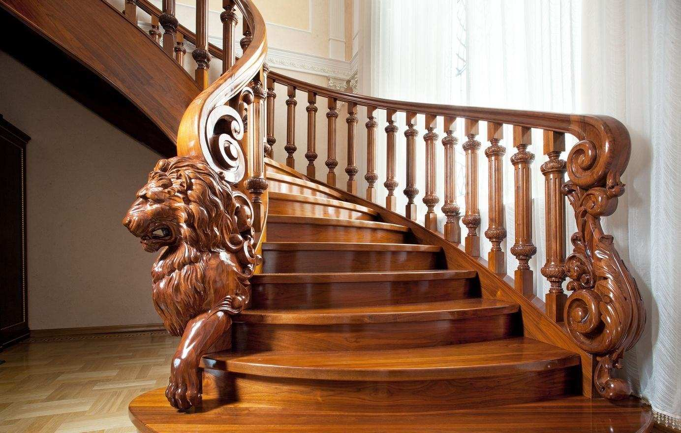 Столбы для лестниц деревянные заходные - Купить лестничные